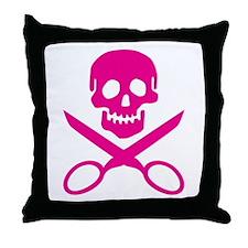 Fuchsia Jolly Cropper Throw Pillow