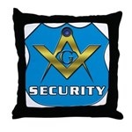 Masonic Security Guard Throw Pillow