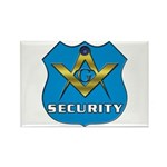 Masonic Security Guard Rectangle Magnet