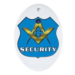 Masonic Security Guard Oval Ornament