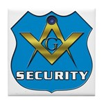 Masonic Security Guard Tile Coaster