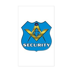 Masonic Security Guard Rectangle Sticker