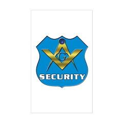 Masonic Security Guard Rectangle Decal