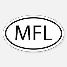 MFL Oval Decal