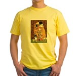 Kiss / Fox Terrier Yellow T-Shirt