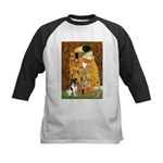 Kiss / Fox Terrier Kids Baseball Jersey