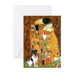 Kiss / Fox Terrier Greeting Cards (Pk of 10)