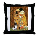 Kiss / Fox Terrier Throw Pillow