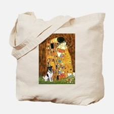 Kiss / Fox Terrier Tote Bag