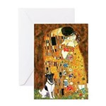 Kiss / Fox Terrier Greeting Card