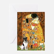 Kiss / Fox Terrier Greeting Card