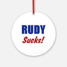 Rudy Sucks Ornament (Round)