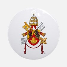 Papal Coat of Arms Ornament (Round)