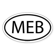 3-MEB Oval Decal