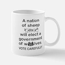 VOTE CAREFULLY - SHEEP/WOLVES Mugs