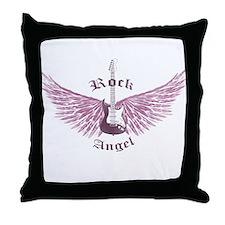 Rock Angel Throw Pillow