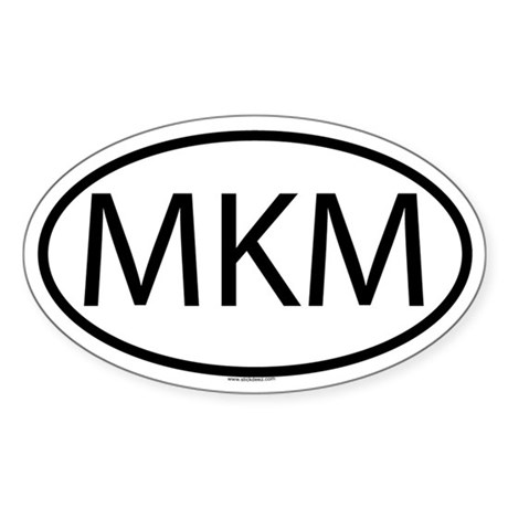 MKM Oval Sticker