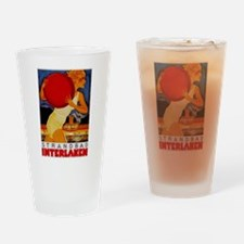 Interlaken Switzerland Travel Drinking Glass