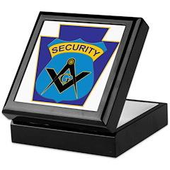 Masonic security guard - Keystone Keepsake Box