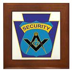 Masonic security guard - Keystone Framed Tile