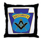 Masonic security guard - Keystone Throw Pillow
