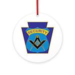Masonic security guard - Keystone Ornament (Round)