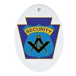Masonic security guard - Keystone Oval Ornament