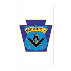 Masonic security guard - Keystone Decal