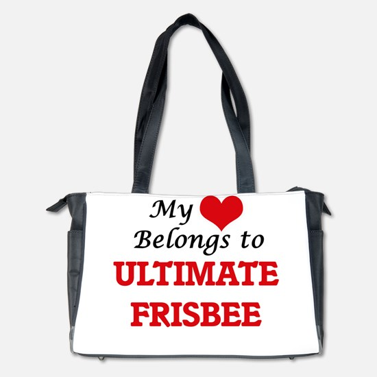 My heart belongs to Ultimate Frisbee Diaper Bag