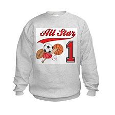 All-Star Sports First Birthday Sweatshirt