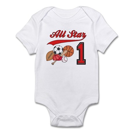 All-Star Sports First Birthday Infant Bodysuit