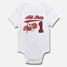 All-Star Sports First Birthday Infant Bodysuit