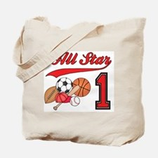 All-Star Sports First Birthday Tote Bag