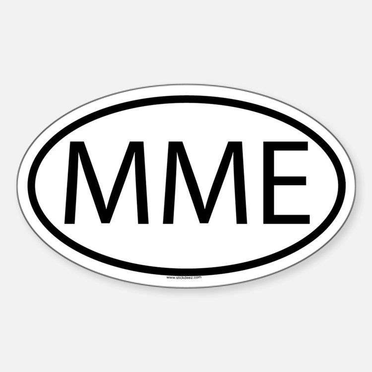 MME Oval Decal