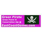 Green Pirate Bumper Sticker