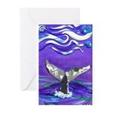 Whale tail Greeting Cards (10 Pack)