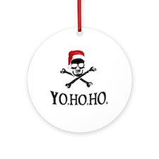 Yo Ho Ho Pirate Santa Ornament (Round)