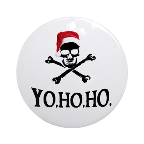 Yo Ho Ho Pirate Santa Ornament (Round)