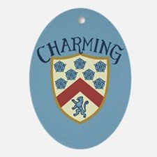 Prince Charming Shield Oval Ornament