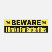 I Brake For Butterflies Car Magnet 10 x 3