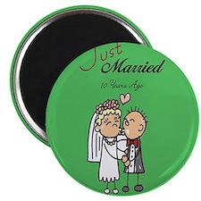 Cute 10th wedding anniversary Magnet