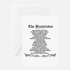 The Beatitudes- Mathew 5(NKJV) Greeting Cards