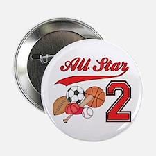 """AllStar Sports 2nd Birthday 2.25"""" Button (10 pack)"""