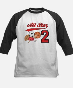AllStar Sports 2nd Birthday Kids Baseball Jersey