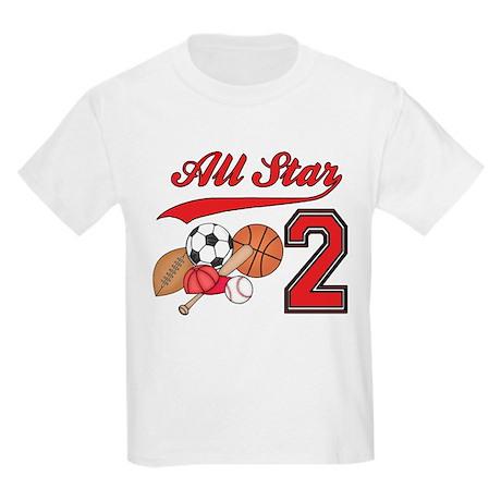 AllStar Sports 2nd Birthday Kids Light T-Shirt