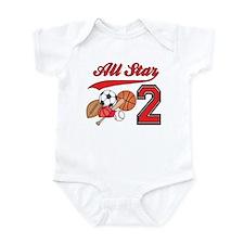 AllStar Sports 2nd Birthday Infant Bodysuit