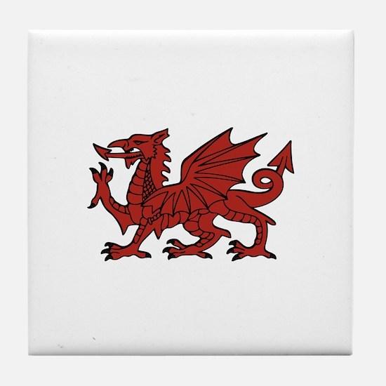 Flint Dragon Tile Coaster