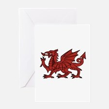 Flint Dragon Greeting Cards