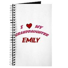 I Love My Granddaughter Emily Journal