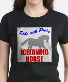 Ride With Pride Icelandic Horse Ash Grey T-Shirt